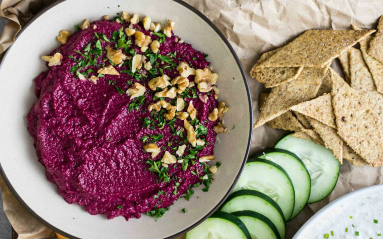 Vegan Beet and Walnut Dip