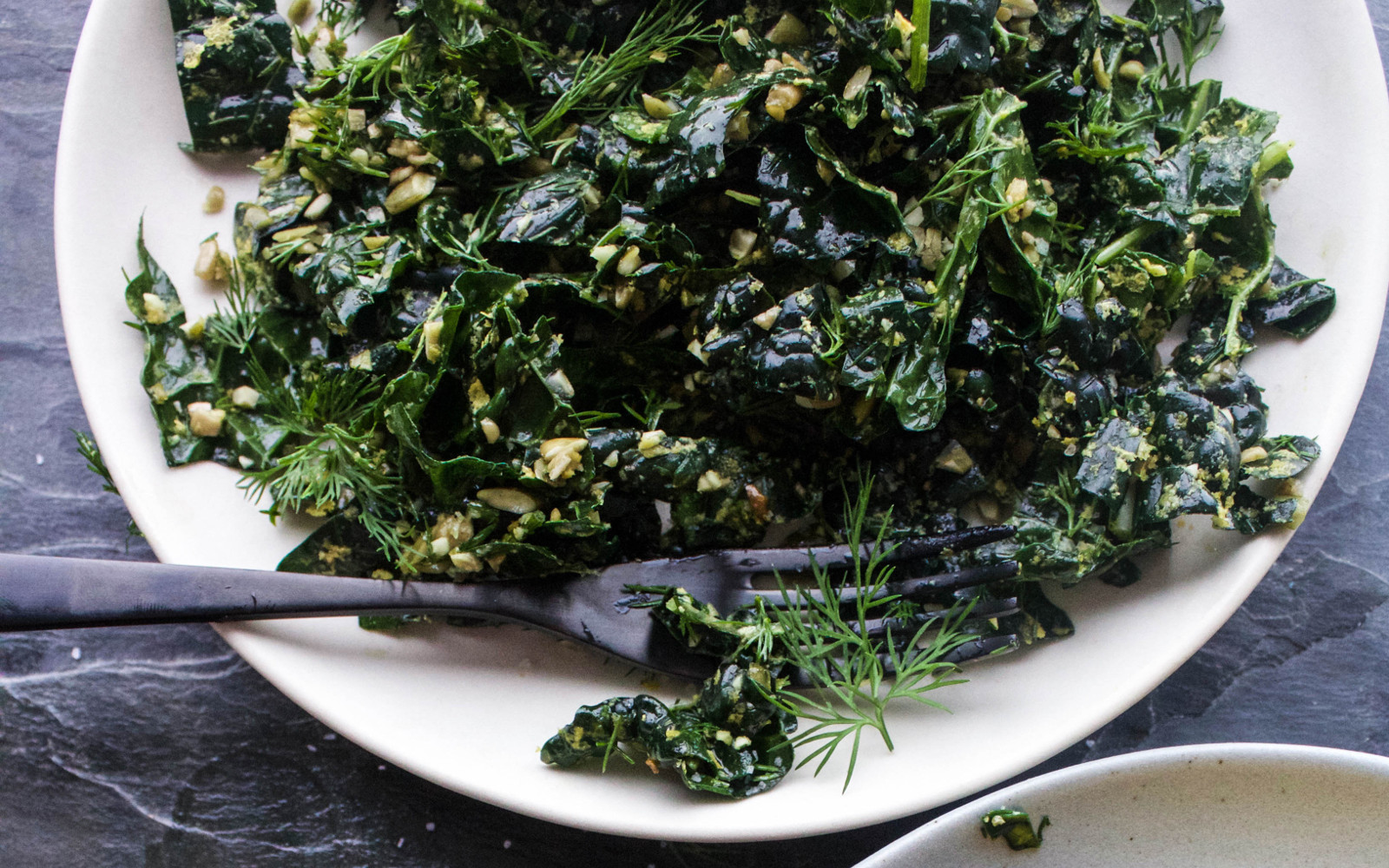 Vegan Herb and Garlic Massaged Kale Salad