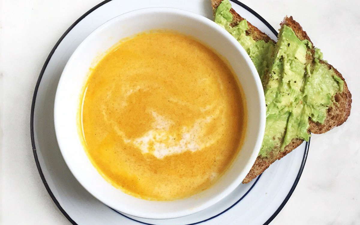 Vegan Coconut Curried Carrot Soup