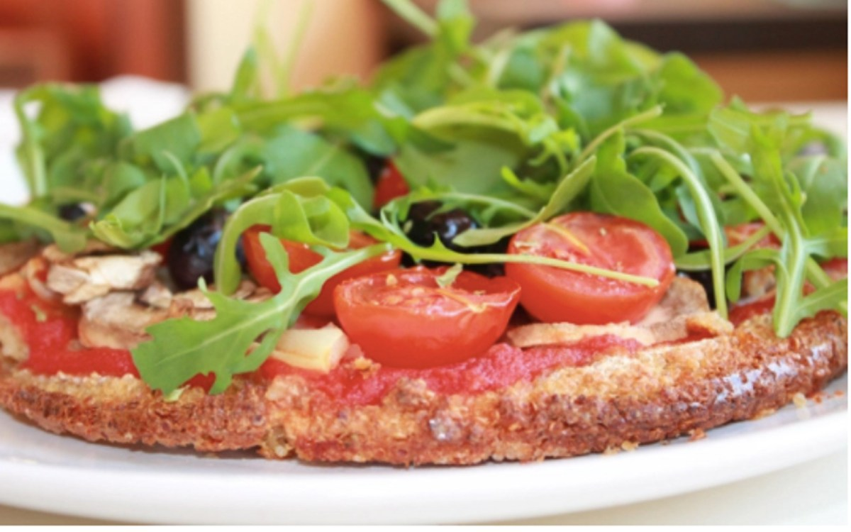 Vegan Gluten-Free FOOD MONSTER - RECIPES Budget-Friendly Quinoa Crust Pizzette