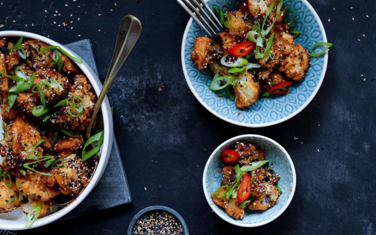 Sticky Spicy Cauliflower