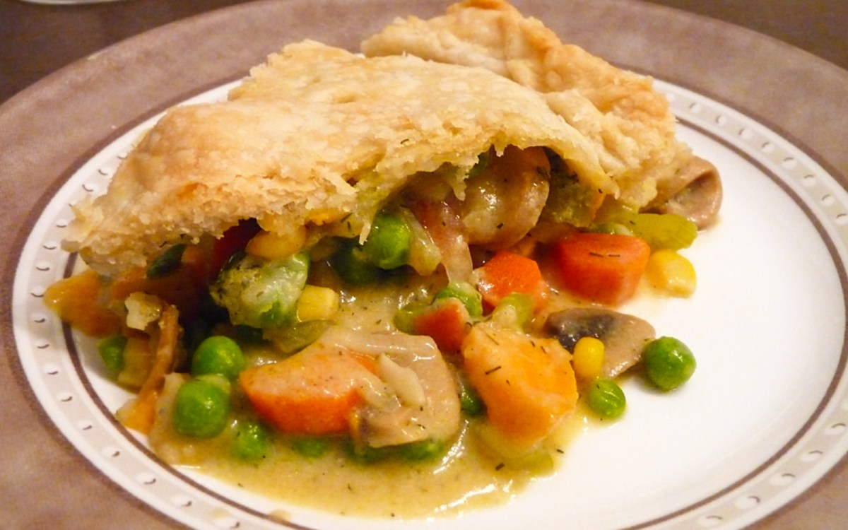 Vegetable Pot Pie With Dill-Mustard Sauce
