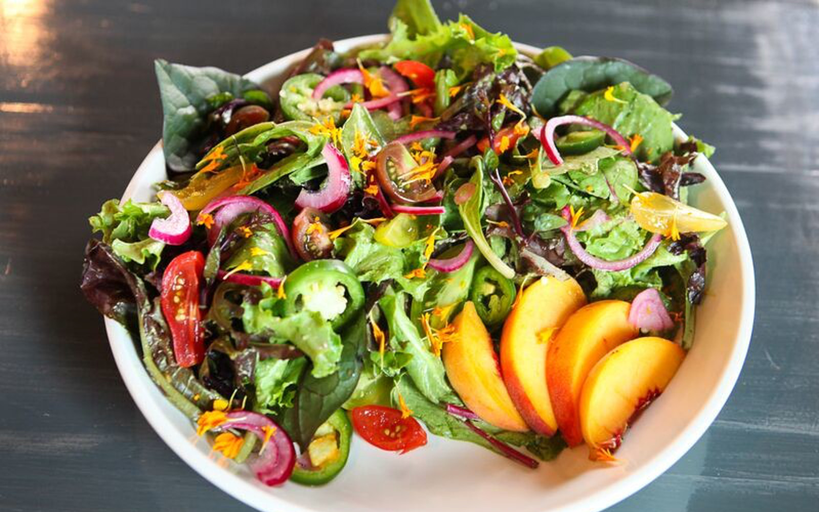 Vegan Salad with fruit