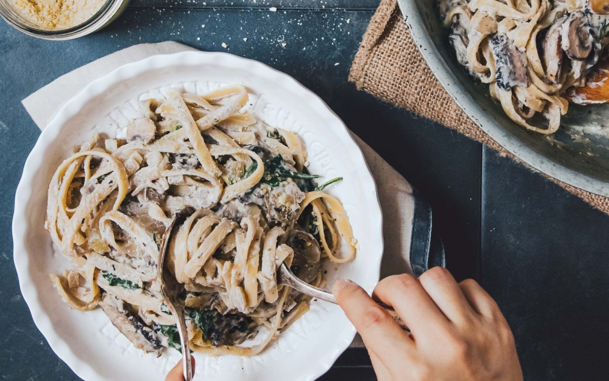 vegan Mushroom Fettuccine Alfredo