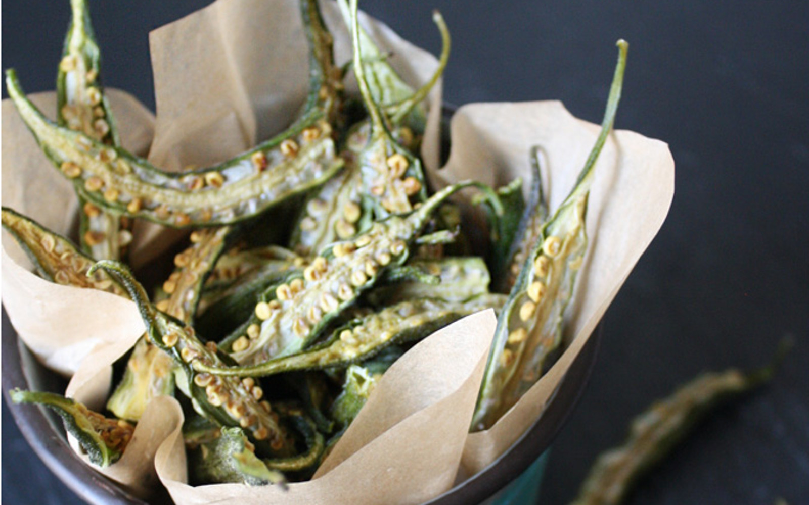 Vegan Gluten-Free Raw Okra Chips