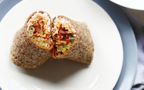 Vegan Lentil Chili Burrito