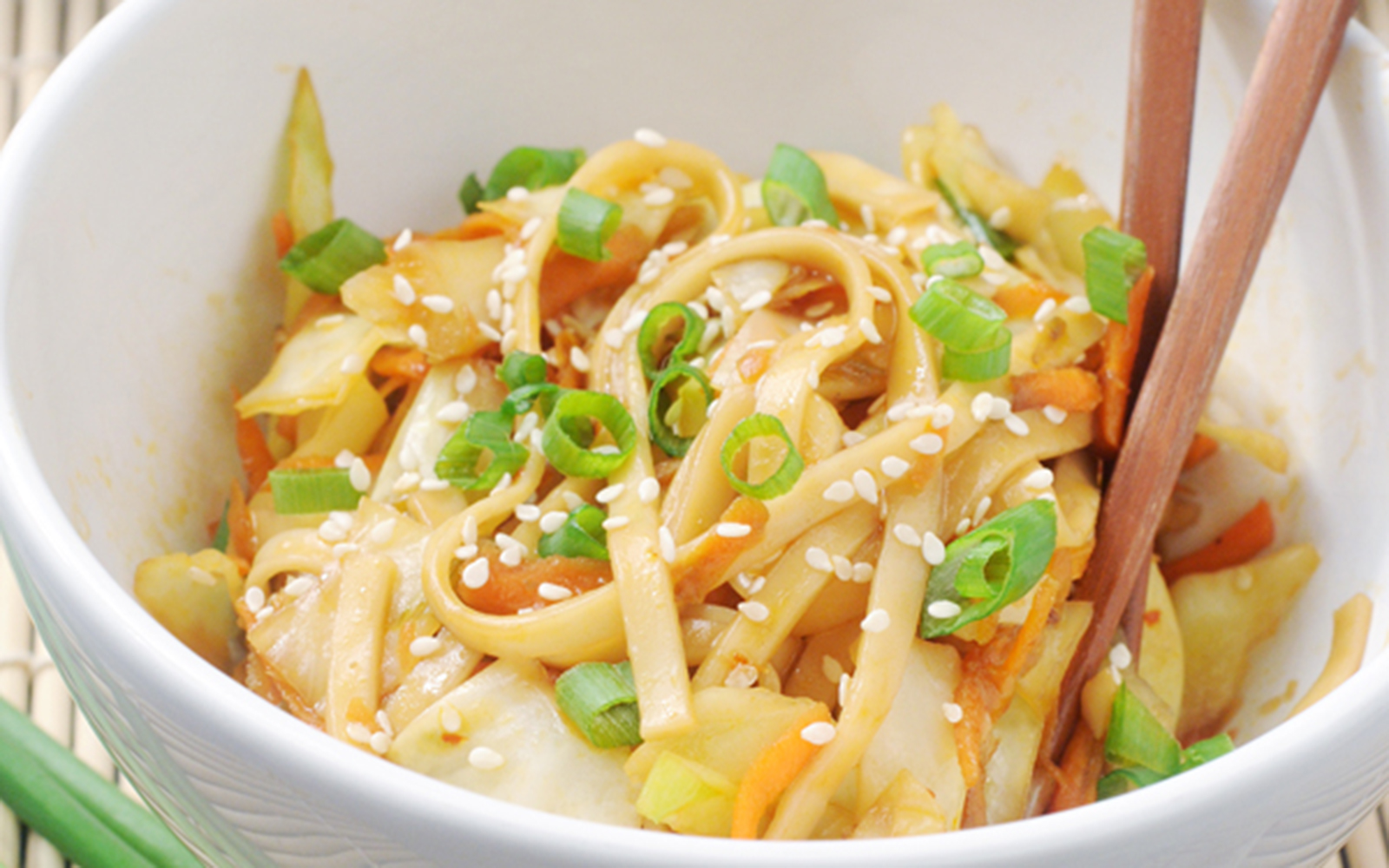 Chinese Cabbage Noodle Stir-Fry