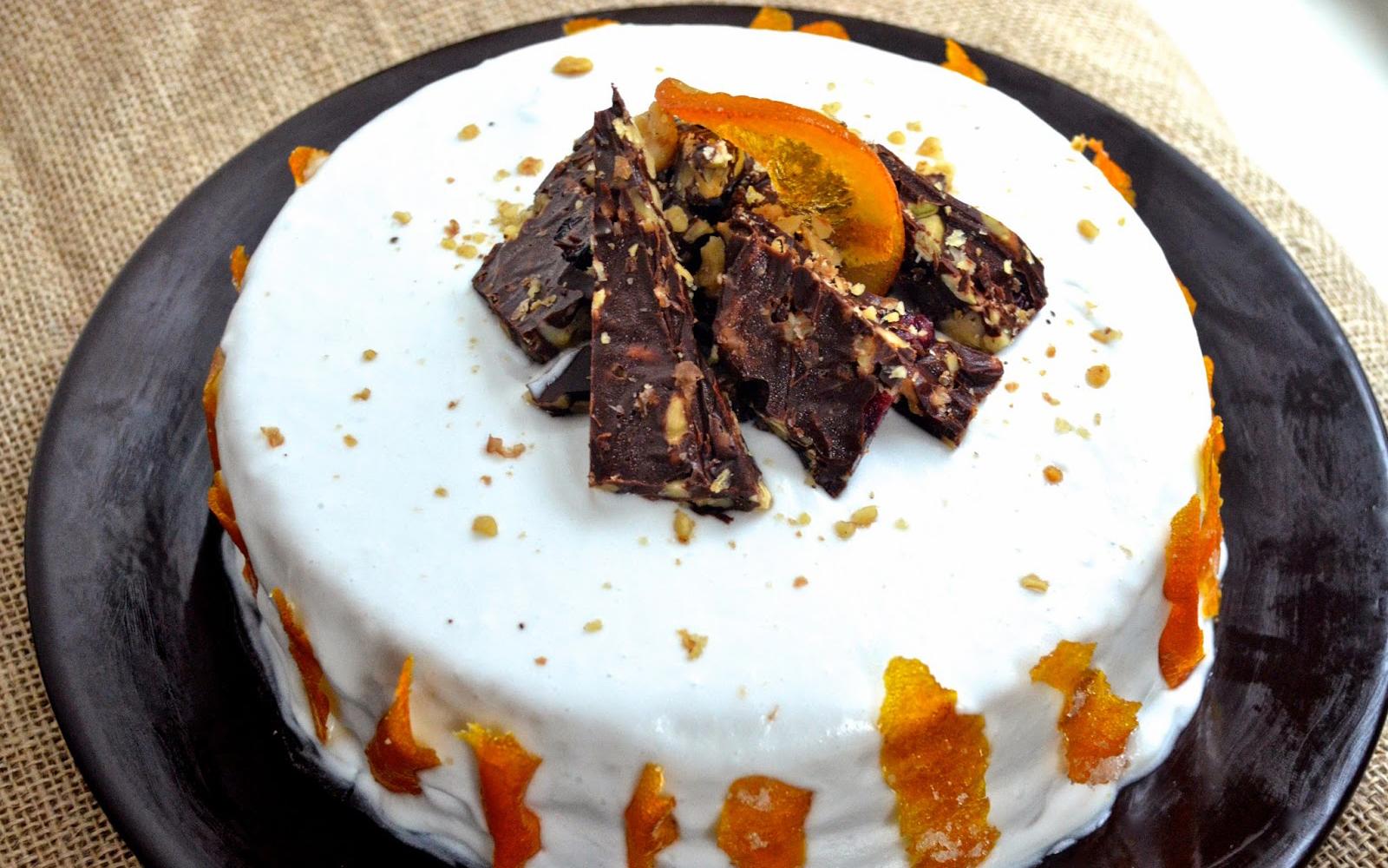 Orange Creamsicle Cake With Candied Orange Peel [Vegan]