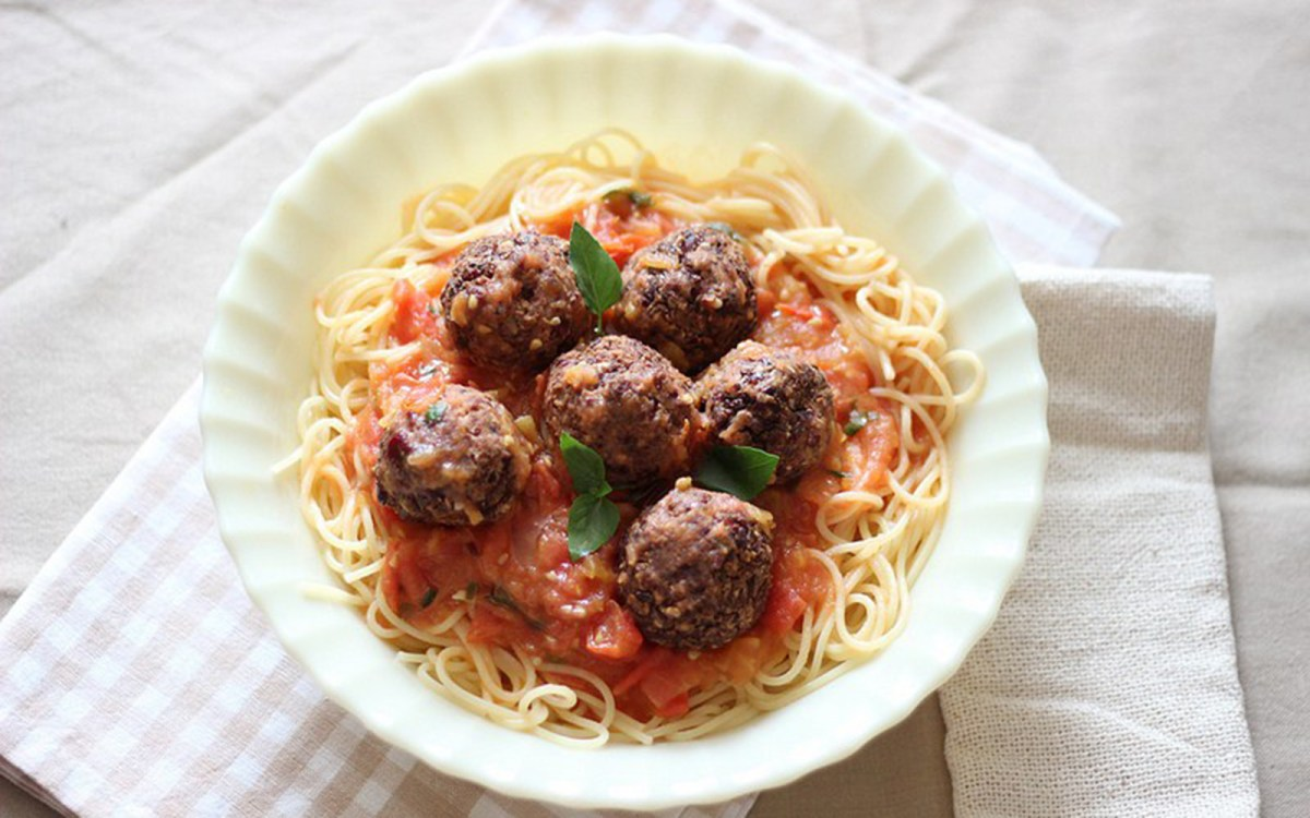 Vegan Red Bean Meatballs