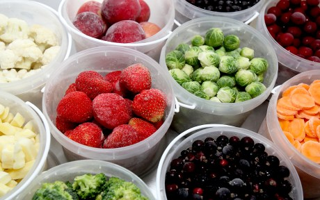 frozen vegetables and fruit
