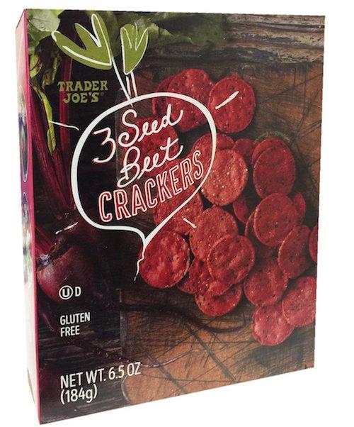 vegan beet crackers
