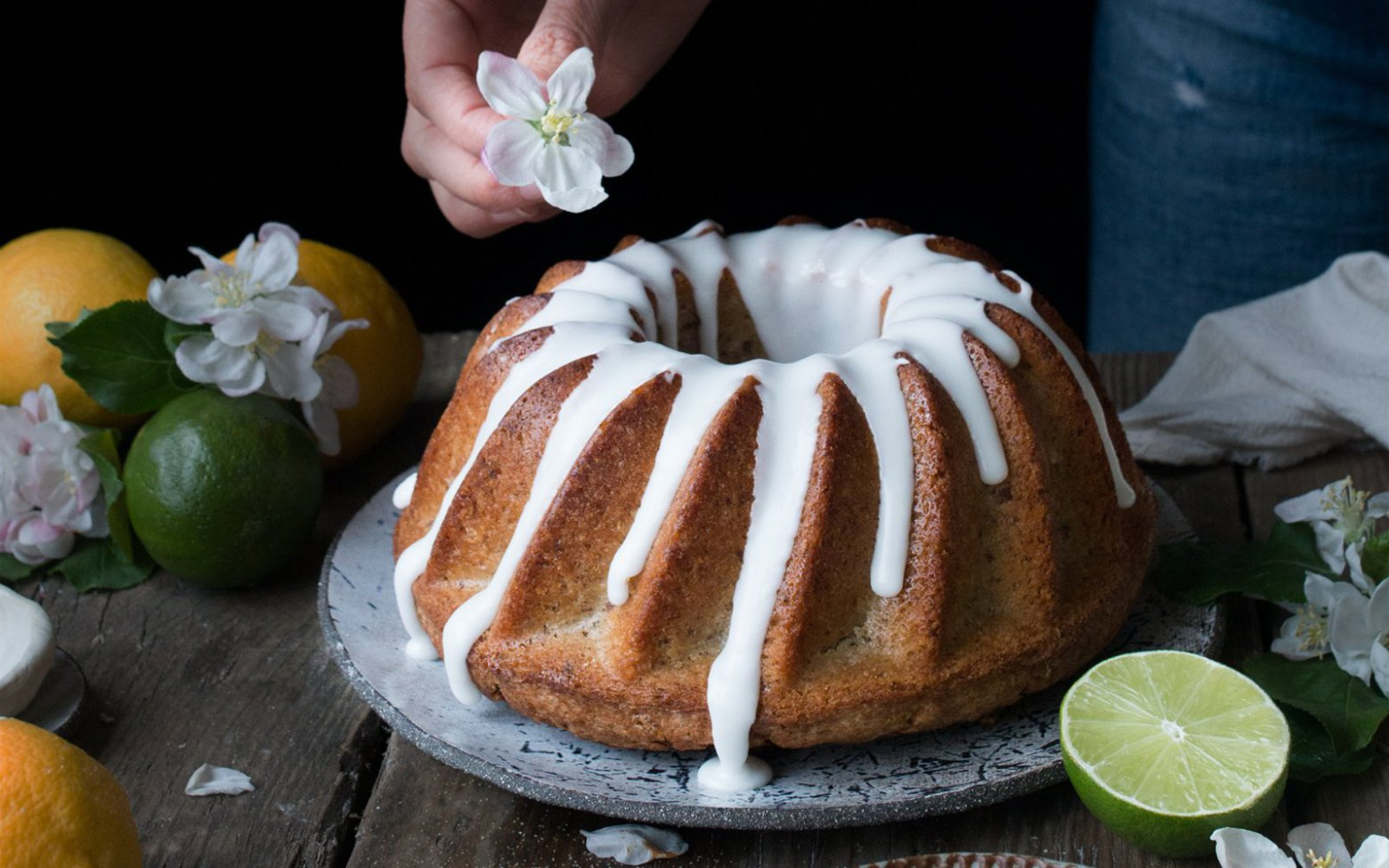 lemon drizzle vegan cake