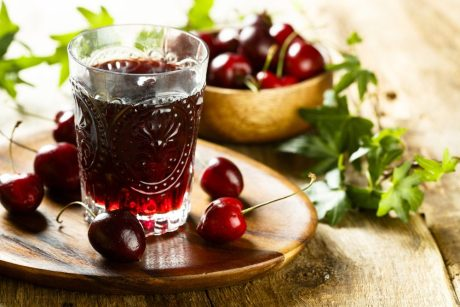 Sour cherries juice
