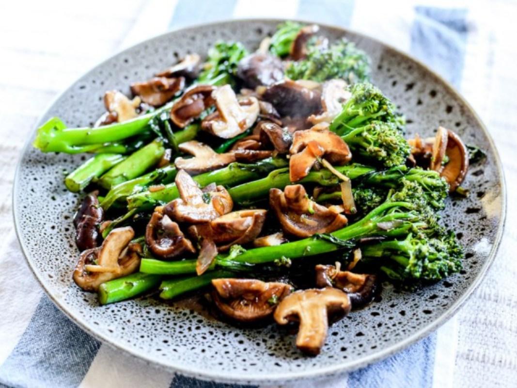 Broccolini Mushroom Stir Fry