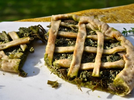 Artichoke and Walnut Pesto Pie