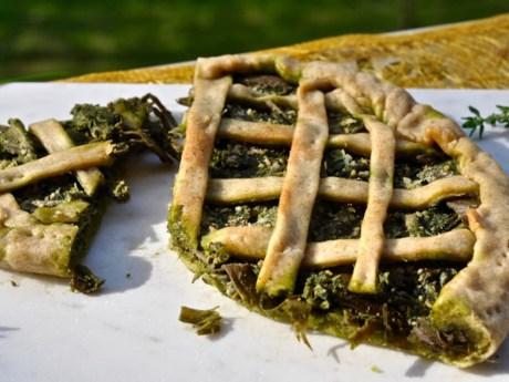 Artichoke and Walnut Pesto Pie