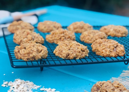 Ginger oat biscuits, cookies, easy recipe, oats, one handed baker