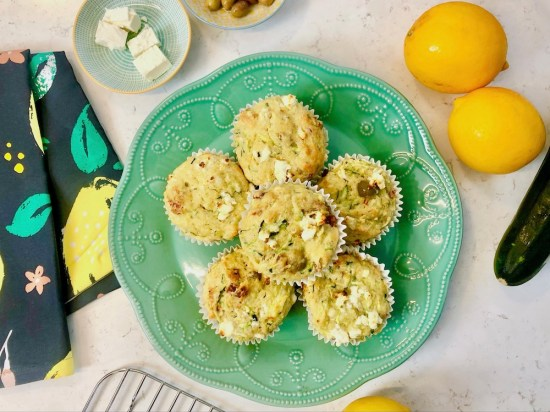 Mediterranean muffins, kitchen aid, olives, feta, easy recipe, one handed baker