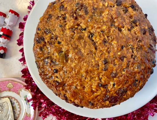 pineapple fruit cake, boiled fruit cake, easy recipe, one handed baker