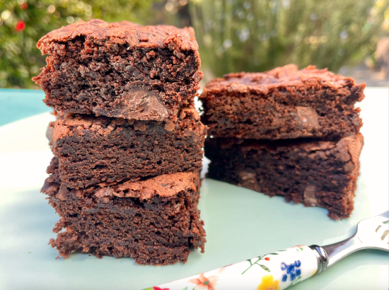 chocolate brownies, Mary Berry, One Handed Baker