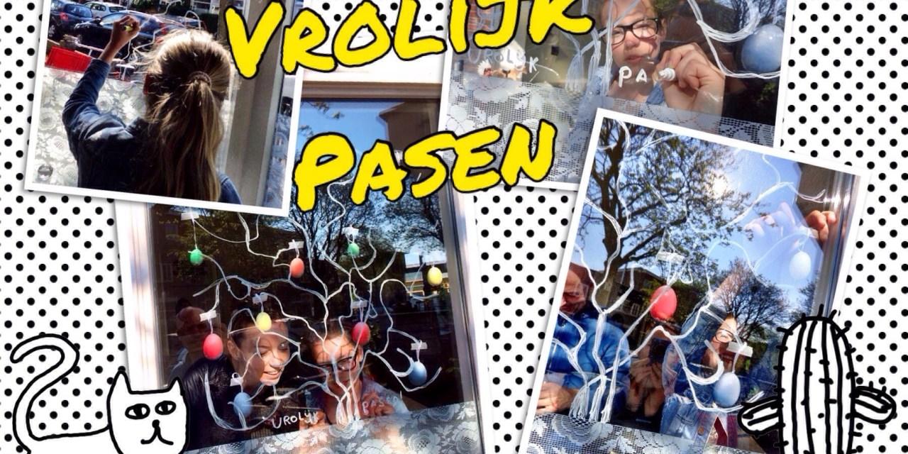 DIY: raam bekladderen met raamstiften (+ paas idee)