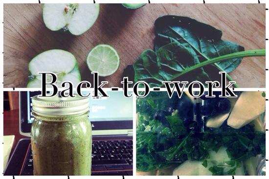 Lekkere groene back-to-work smoothie