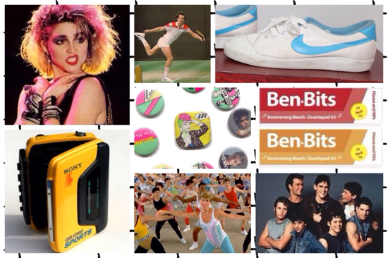 eighties moodboard