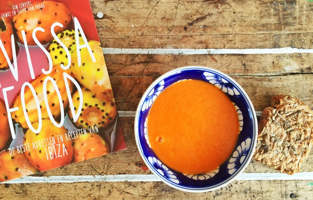 Vegetarisch tomaten-paprikasoep recept