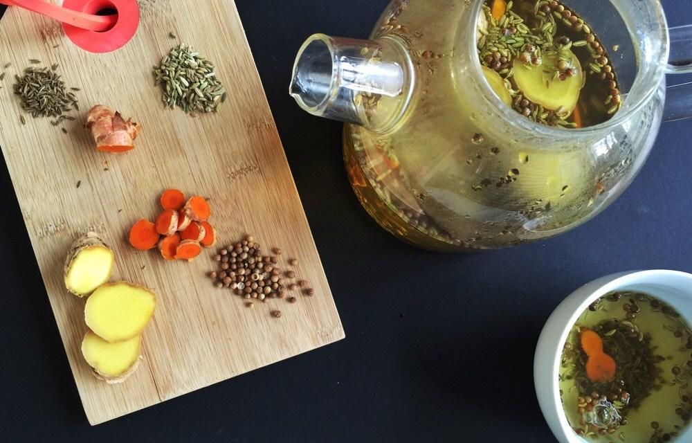 Ayurvedische detox thee met turmeric