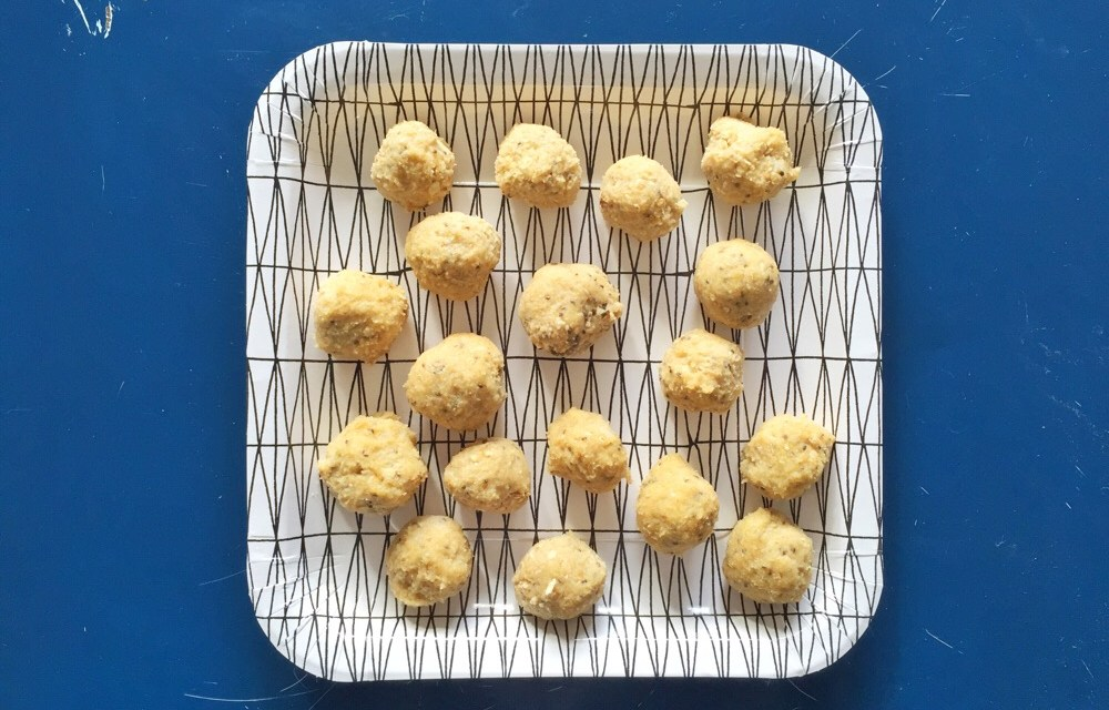 Appel en amandel snack (no-bake & supersimpel)