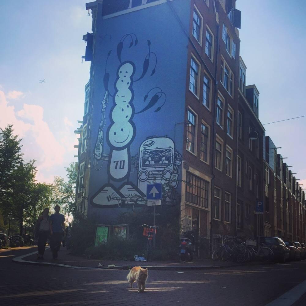 The London Police - Streetart in Amsterdam