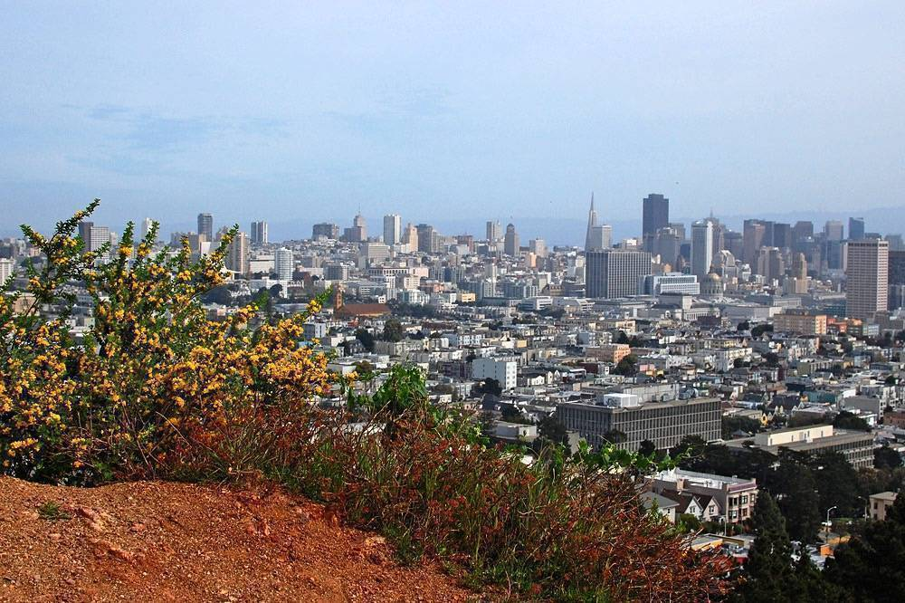 best views on San Francisco - view from Corona Heights Park