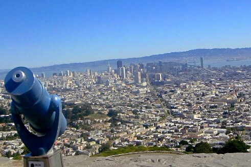 best views on San Francisco - view from Twin Peaks
