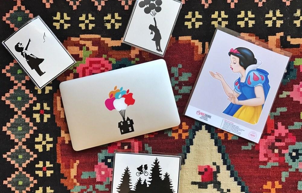 Handig: iPad en MacBook sticker shoptegoed