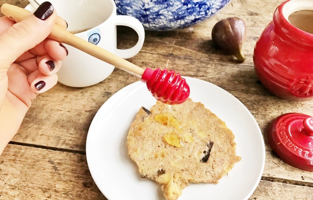 Easy: pannenkoekje met banaan en vijg
