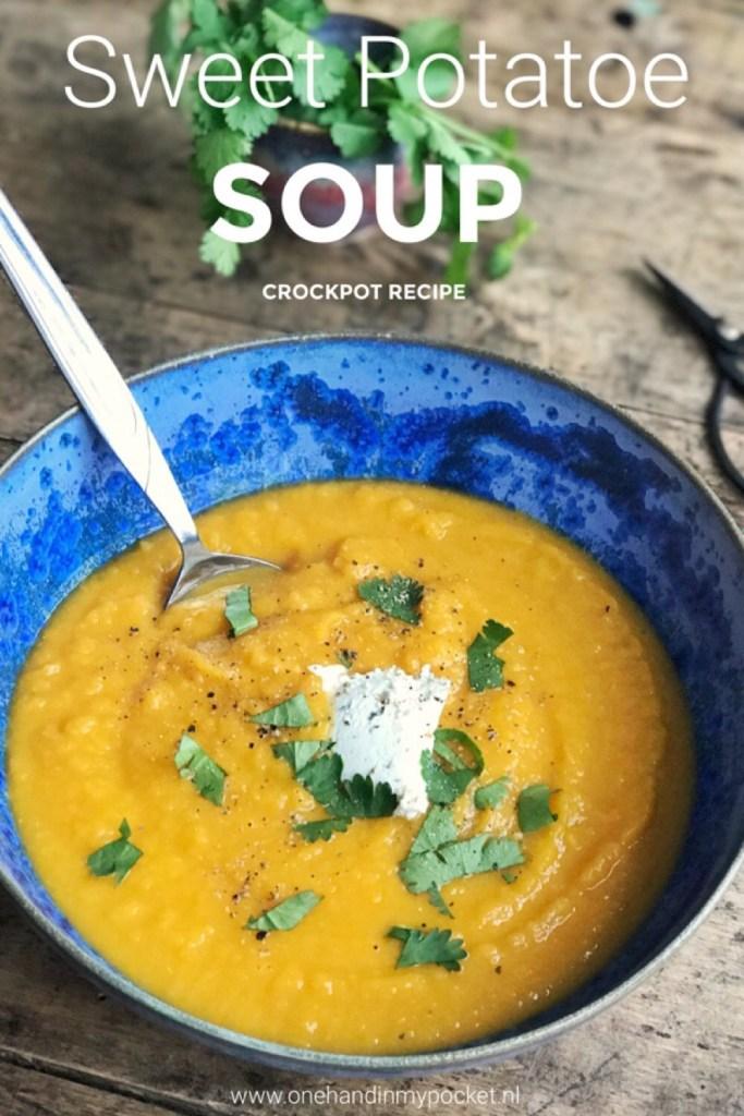 Zoete aardappelsoep recept (Slowcooker)