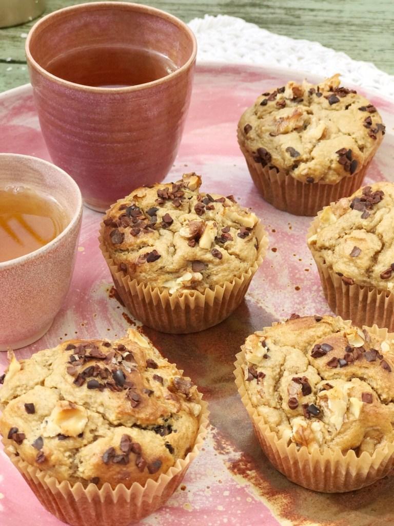 muffins met havermout en banaan