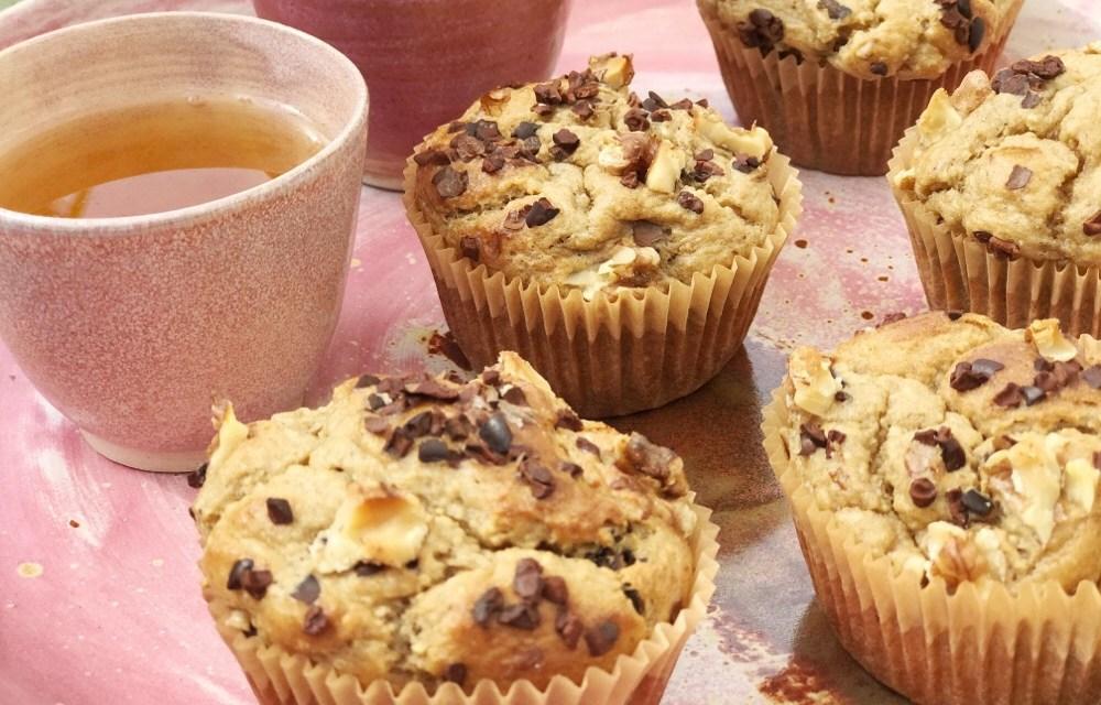 Muffins van havermout met banaan uit de blender