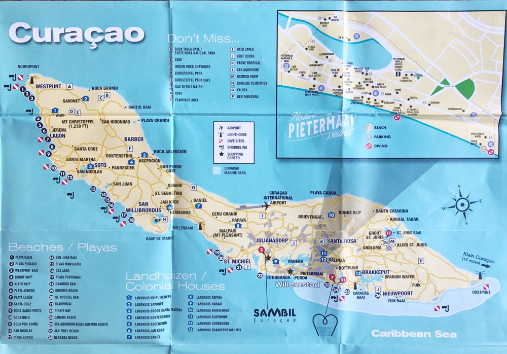 map Curacao beaches