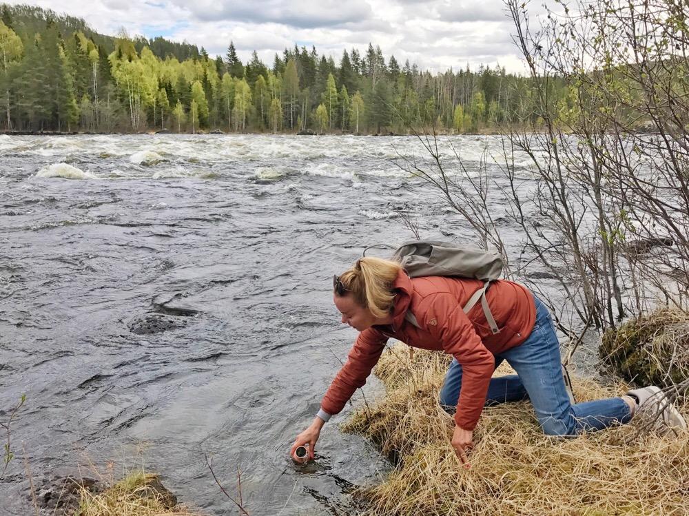 vers water uit de rivier