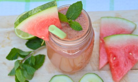 detox drankje met komkommer, meloen en munt