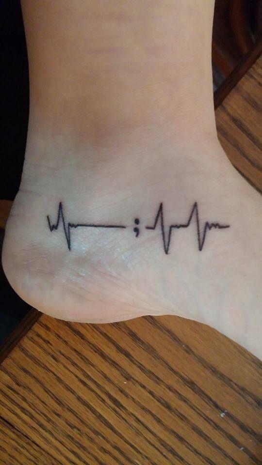 Wonderbaar De betekenis van de puntkomma tattoo - One Hand in my Pocket FY-52