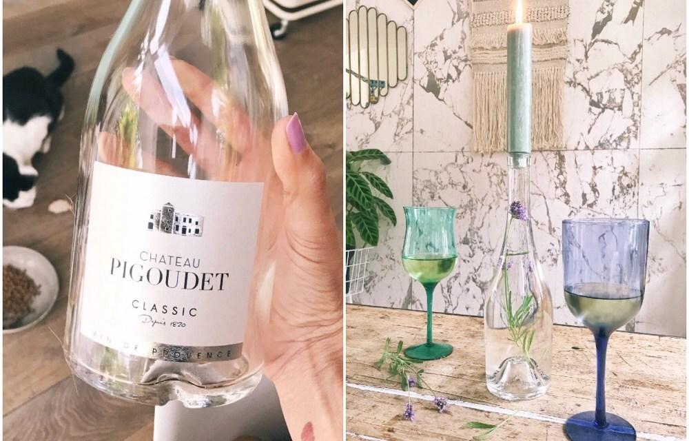 DIY: mooie kandelaar van een fles maken