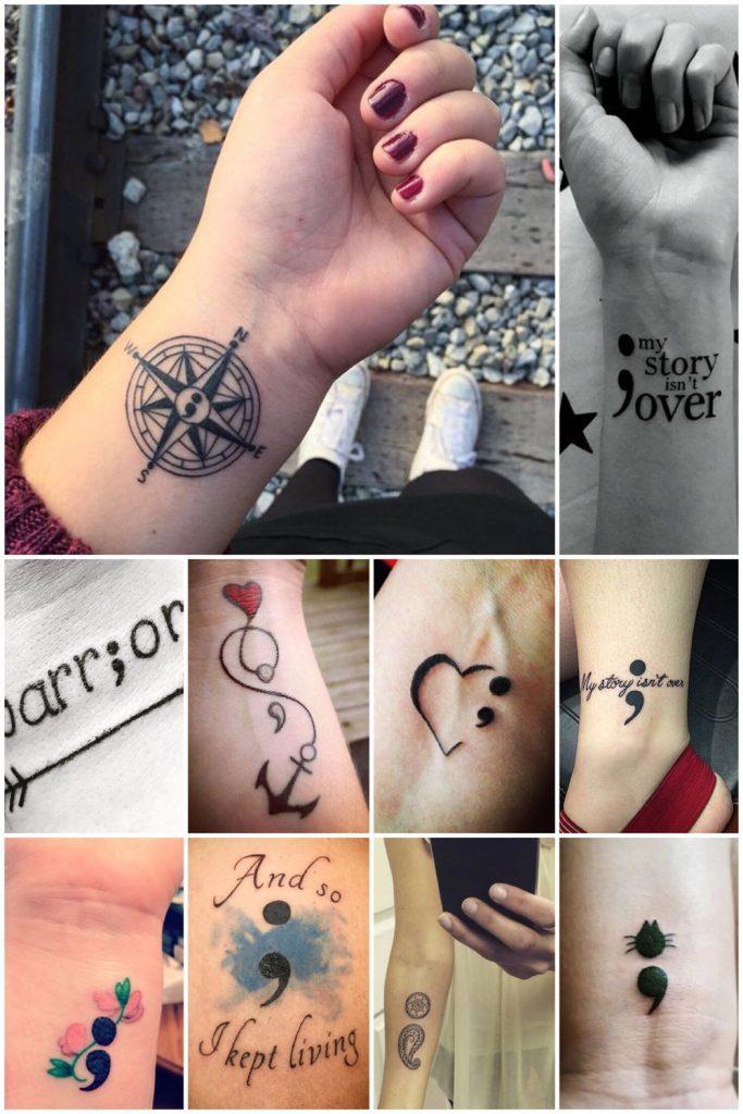 puntkomma tattoos