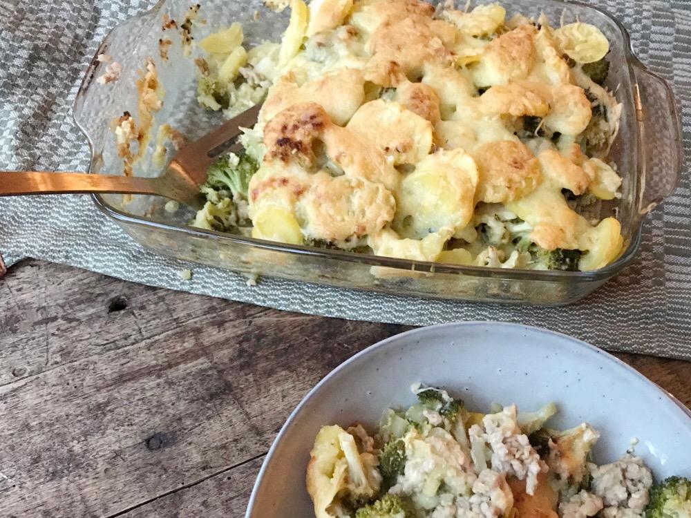 Winterkost: ovenschotel met kip en broccoli