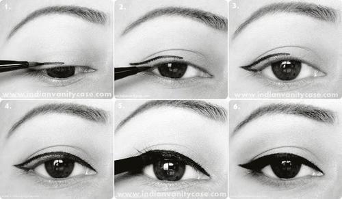 eyeliner zetten