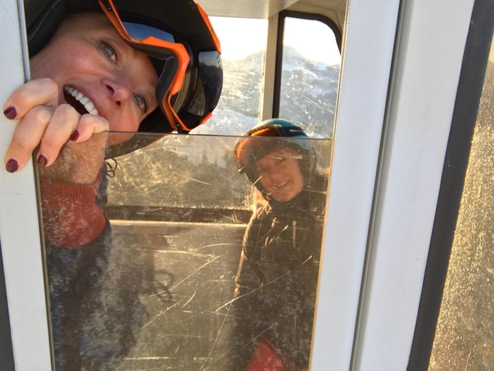 selfie skilift
