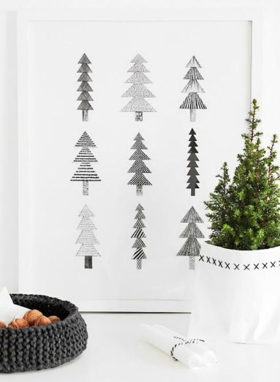 kersttrends - zwart wit