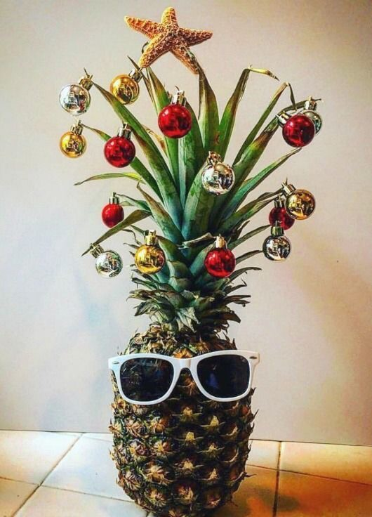 zonnige ananas kerstboom