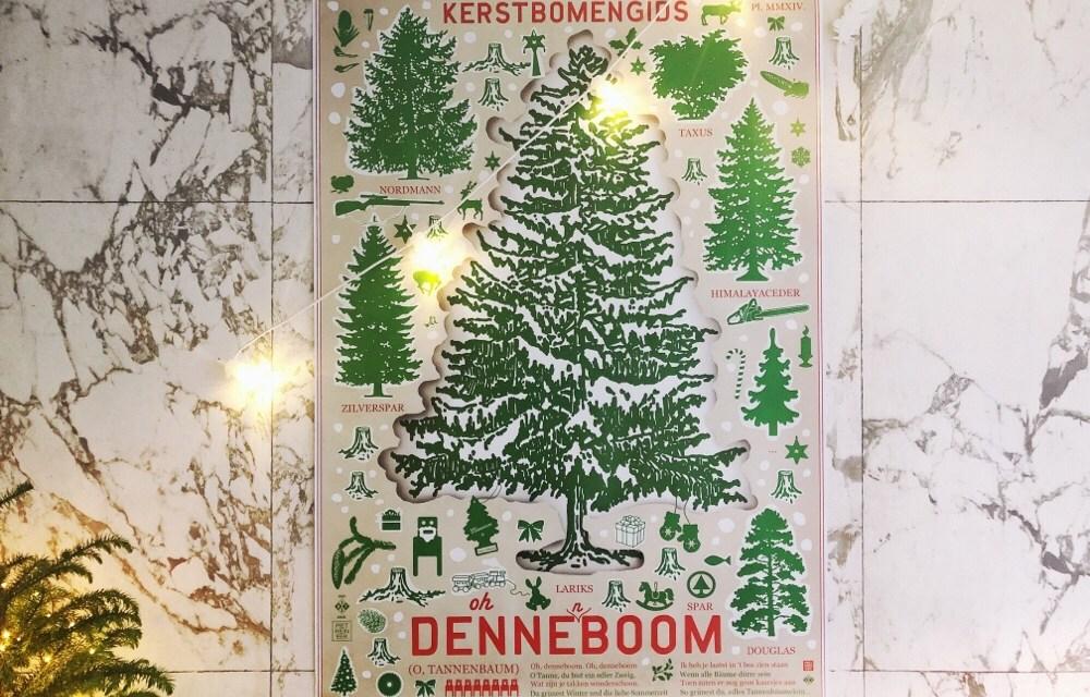Kerstidee: kerstboom poster van Piet Hein Eek + studio Boot